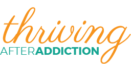 The website for Thriving After Addiction